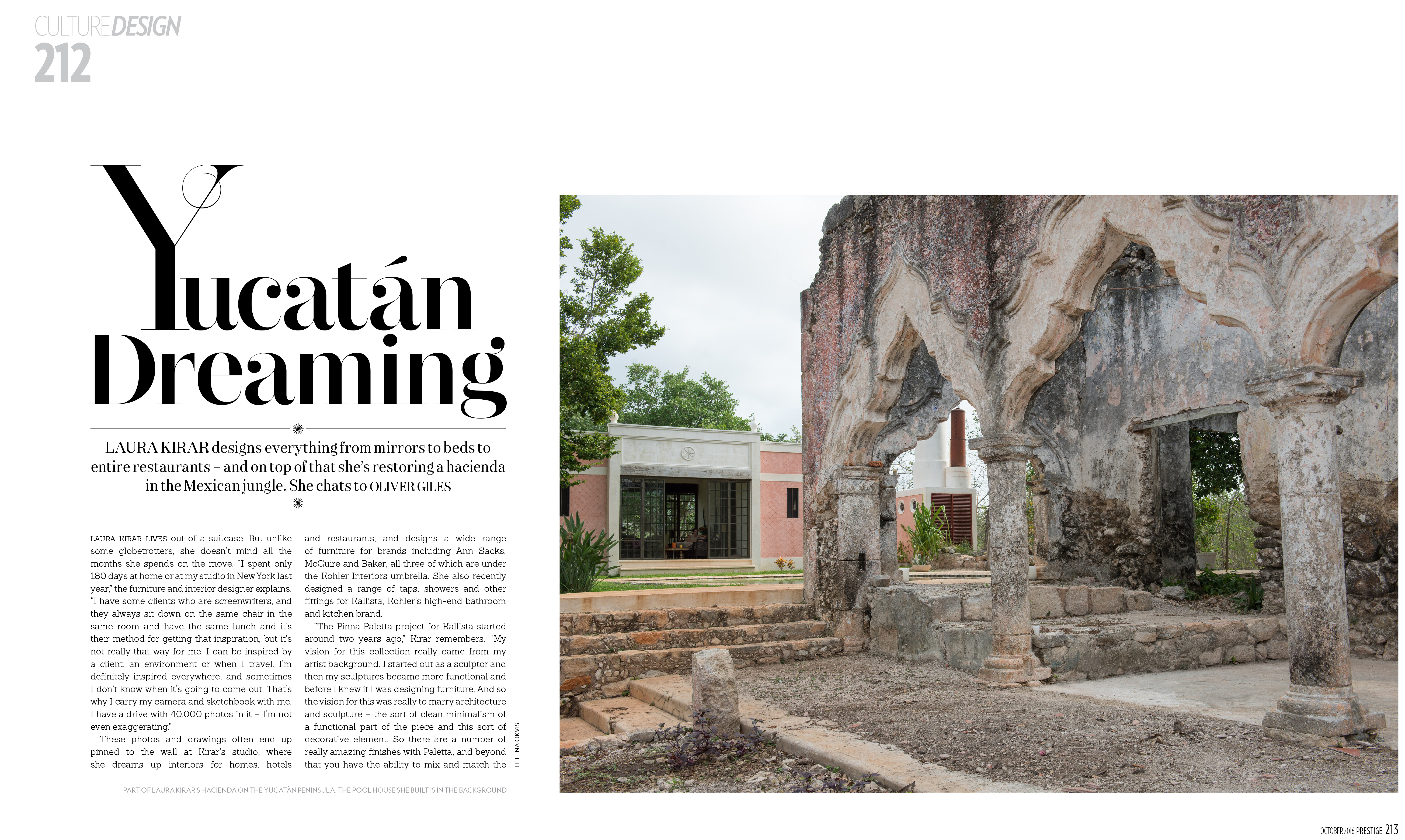 yucatan, dreaming, laura kirar, design, mexico, travel, inspiration, hacienda, kallista, prestige, hong kong, magazine